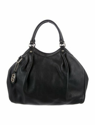 Gucci Large Leather Sukey Tote Black