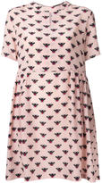 Markus Lupfer bee print flared dress