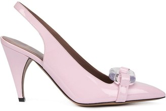 Rayne lucite sling back pumps