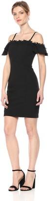 Calvin Klein Women's Black Off The Shoulder Dress 14