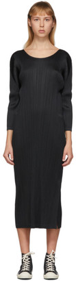 Pleats Please Issey Miyake Black Long Sleeve Pleats Dress