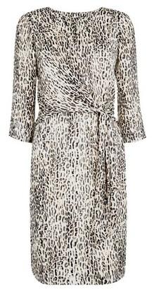 Dorothy Perkins Womens **Billie & Blossom Beige Leopard Print Foil Dress, Beige