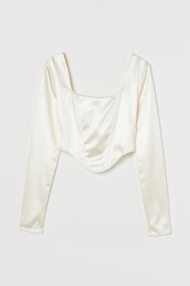 H&M Long-sleeved Short Top