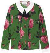 Gucci Floral Printed Silk Shirt