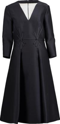 Atelier Herve Pierre Star Ribbon V-Neck Dress