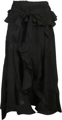 IRO Ruffled Flared Skirt