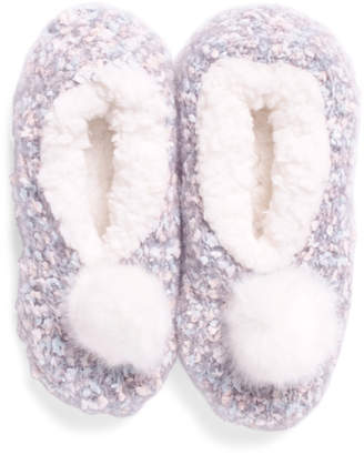 Plush Lined Knit Slippers