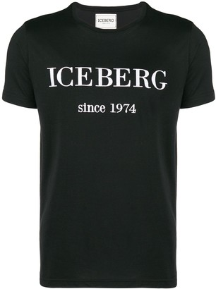 Iceberg logo embroidered T-shirt