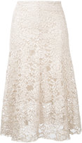 CITYSHOP floral lace midi skirt - women - Cotton/Nylon/Polyurethane - One Size