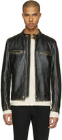 Belstaff Black Leather Landrake 2.0 Biker Jacket