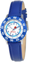 JCPenney RED BALLOON Red Balloon Kids Time Teacher Blue Leather Strap Watch
