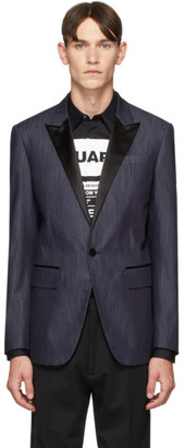 DSQUARED2 Blue Denim Classic Blazer