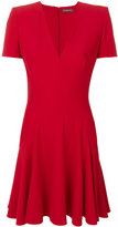 Alexander McQueen v-neck dress - women - Silk/Acetate/Viscose - 38
