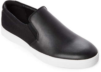 Calvin Klein Black Ivo Leather Slip-On Sneakers