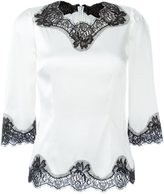 Dolce & Gabbana lace detail blouse
