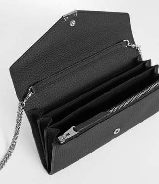 AllSaints Captain Leather Chain Wallet