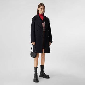 Burberry Pocket Detail Cashmere Pea Coat