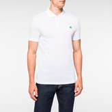 Paul Smith Men's Slim-Fit White Mercerised-Cotton PS Logo Polo Shirt