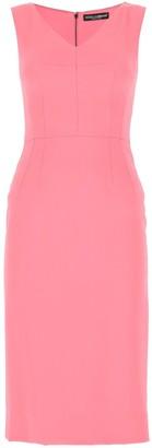 Dolce & Gabbana V-Neck Fitted Dress