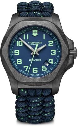 Victorinox I.N.O.X. Carbon Blue Dial & Paracord Bracelet Two-Strap Watch