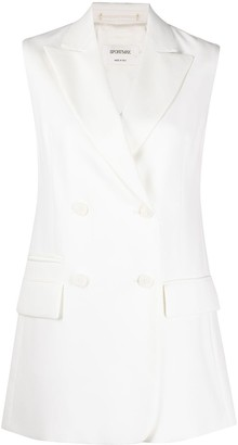 Sportmax Sleeveless Double-Breasted Blazer