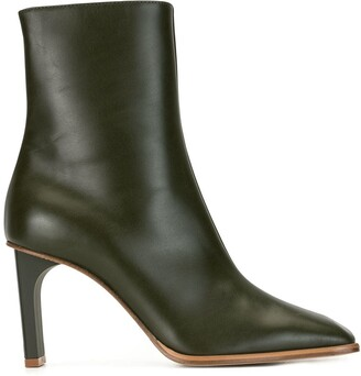 Dion Lee Square Toe High-Heel Boots