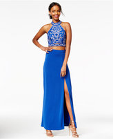 Speechless Juniors' 2-Pc. Sequined Gown, A Macy's Exclusive Style