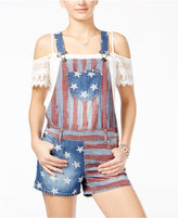 American Rag Printed Denim Shortalls, Only at Macy's
