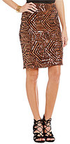 Sugar Lips Sugarlips Geometric Sequin Hook Back Pencil Skirt