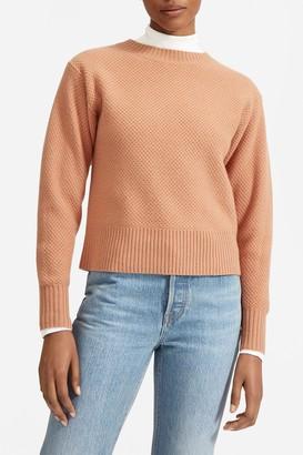 Everlane The Cashmere Blend Stroopwafel Crew Neck Sweater