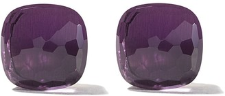 Pomellato 18kt rose & white Nudo amethyst stud earrings
