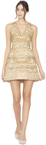 Alice + Olivia Gold Multi Patty Lantern Gown