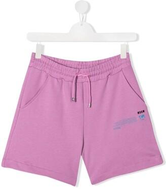 Msgm Kids TEEN logo-print shorts
