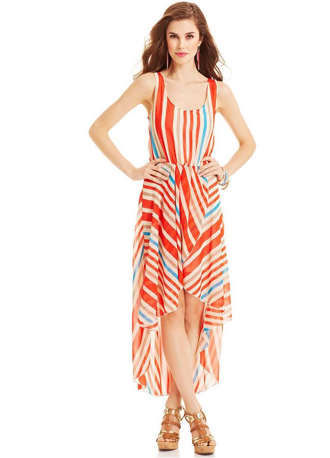 Angie Juniors' Striped Sleeveless Dress