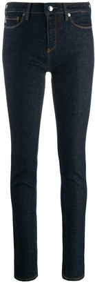 Love Moschino Heart-Shaped Plaque Skinny Jeans