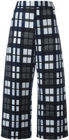 Ter Et Bantine checked cropped trousers - women - Cotton/Polyamide/Acetate/Cupro - 40