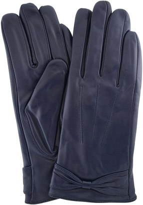 Butter Shoes SNUGRUGS Womens Soft Premium Leather Glove with Bow
