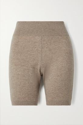 Frame Cashmere Shorts - Mushroom