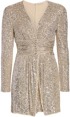 Ramy Brook Jenny Beaded Sequin Mini Dress