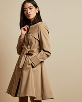 Ted Baker Cotton Fitted Mac Coat