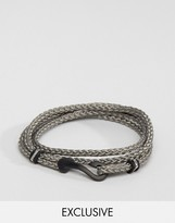 Seven London Hook Bracelet In Grey Exclusive To Asos