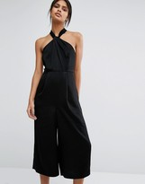 Whistles Sophia Satin Knotted Jumpsuit