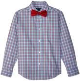 Tommy Hilfiger Long Sleeve Stretch Sunny Plaid Shirt w/ Bow Tie Boy's Clothing