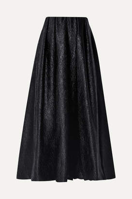 Simone Rocha Strapless Cloque Midi Dress - Black
