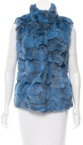 Glamour Puss Glamourpuss Mock Neck Fur Vest w/ Tags