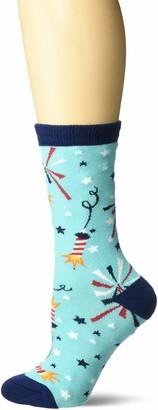 K. Bell Socks K. Bell Women's Novelty Travel Crew Socks-Made in USA