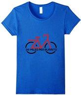 38 miles per burrito Funny Cycling Biking Bicycle T-Shirt