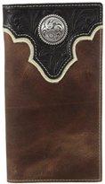 Ariat Men's Top Concho Overlay Rodeo Black Brown Wallet
