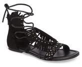 Jessica Simpson Women's Kylea Studded Fringe Sandal
