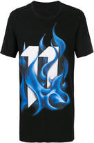 11 By Boris Bidjan Saberi blue flame T-shirt